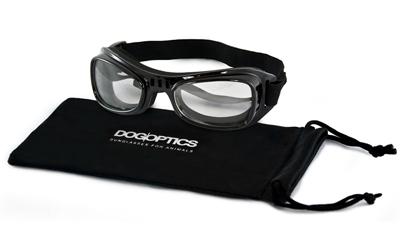 Sunglasses Dogoptics Hundebrille Biker Black frame/Clear lens