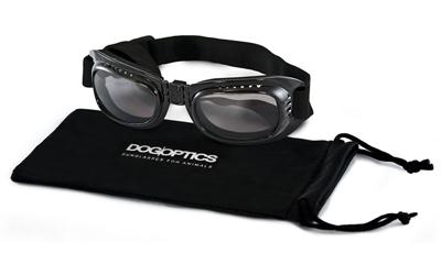 Sunglasses Dogoptics Hundebrille Biker Black frame/Smoke lens