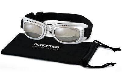 Sunglasses Dogoptics Hundebrille Biker Silver frame/Mirror lens