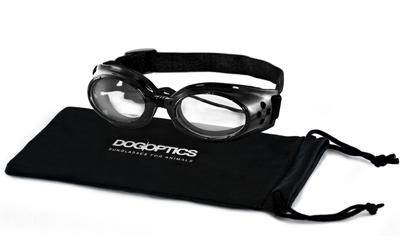 Sunglasses Dogoptics Hundebrille Ibiza Black frame/Clear lens
