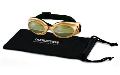 Sunglasses Dogoptics Hundebrille Ibiza Gold frame Light Mirror lens