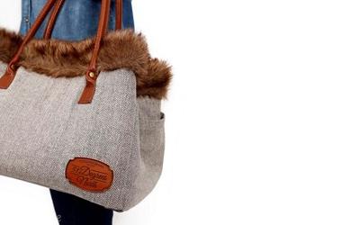 Flauschig, weich gefütterte Tasche für Hunde und Katzen