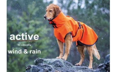 ACTIVE cape WIND & RAIN Regenjacke, orange