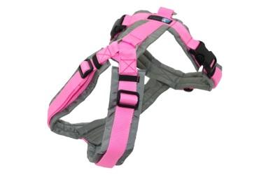 annyX Brustgeschirr Fun (Sonderfarbe), grau/rosa