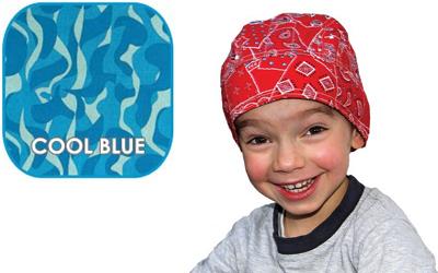 Aqua Coolkeeper Kopftuch Cooling Bandana Kids, Cool Blue