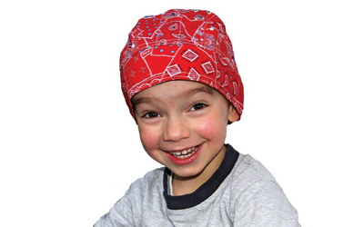Aqua Coolkeeper Kopftuch Cooling Bandana Kids, Red Western