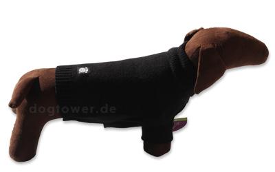 Acryl Hundepullover, schwarz