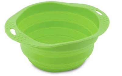 BECO Reisenapf aus Silikon, grün