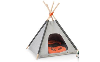 Beeztees Tipi Tent Schlafzelt grau Mohaki