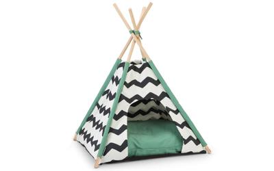 Beeztees Tipi Tent Schlafzelt Kioni, schwarz/weiss