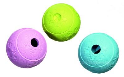 Futterball, mintgrün, himmelblau & rosa