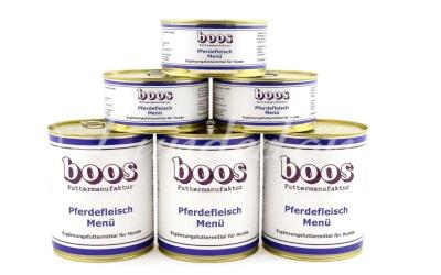 Boos Menü Fleischdosen, Pferdefleisch-Menü