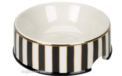 Chacco Hundenapf Stripes Schwarz/Gold