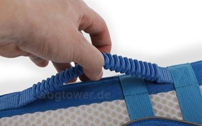 Stabiler Griff im Rückenbereich zur Unterstützung