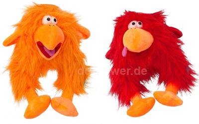 COOCKOO Plüschspielzeug Fuzzl in rot und orange
