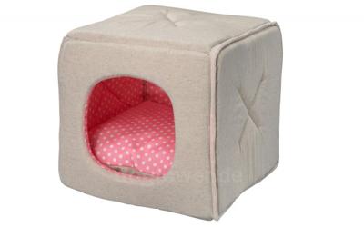 D&D Hundebett Quby Dottie, pink
