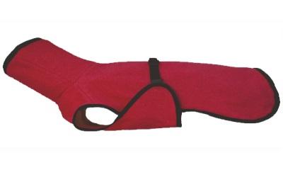 Dackel & Co. iqo Hundebademantel Pitschnass, rot