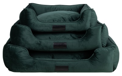 District 70 VELURO Box Bed forest green