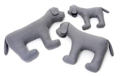 Doctor Bark Toy Dog Hundespielzeug für Allergiker, hellgrau