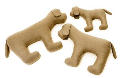 Doctor Bark Toy Dog Hundespielzeug für Allergiker, khaki