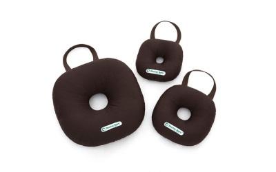 Doctor Bark Toy Donut Round Hundespielzeug für Allergiker, braun