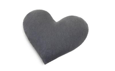 Doctor Bark Toy Heart Hundespielzeug für Allergiker, grau