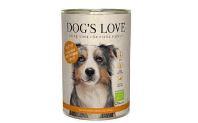 DOGS LOVE Nassfutter Bio-Pute mit Amaranth, Kürbis & Petersilie
