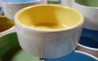 dogtower Keramik Hundenapf Haru, gelb