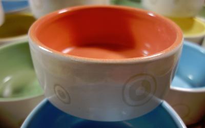 dogtower Keramik Hundenapf Haru, orange
