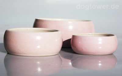 dogtower Keramik Hundenapf Matti, rose gesprenkelt