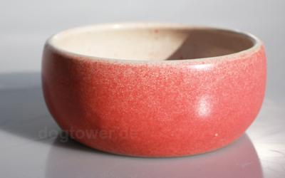 dogtower Keramik Hundenapf Matti, rot gesprenkelt