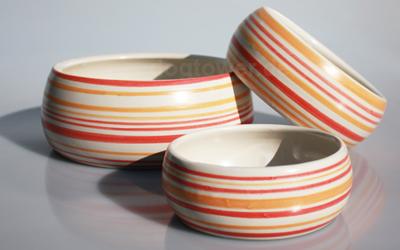 dogtower Keramik Hundenapf Matti, rot/orange