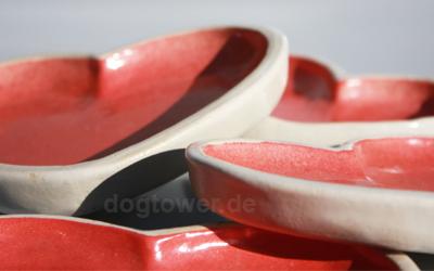 dogtower Hundenapf aus Keramik für sehr kleine Hunde oder Katzen