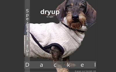 DRYUP cape Dackel Hundebademantel, sand