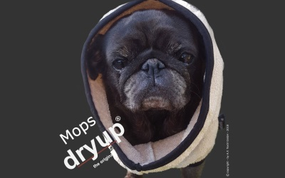 DRYUP cape Mops & Co Hundebademantel, sand