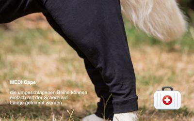Wundschutz-Overall mit extra  langen Beinen, für die Zeit   nach einer OP