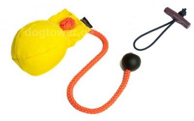 Hunde Dummy Ball, gelb