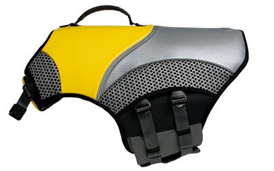 EQDOG Hundeschwimmweste Pro Life Vest, gelb/granit