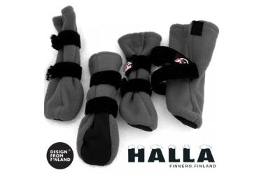 FinNero HALLA Outdoor Fleece-Booties grau