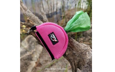 FinNero Kotbeuteltasche aus Mesh pink