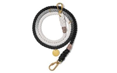 Found My Animal Black Ombre Cotton Rope verstellbare Hundeleine