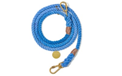 Found My Animal Periwinkle Cotton Rope verstellbare Hundeleine