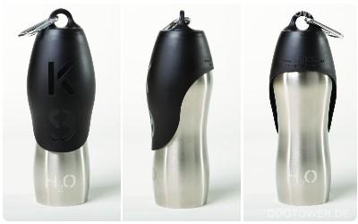 H2O4K9 Trinkflasche silber