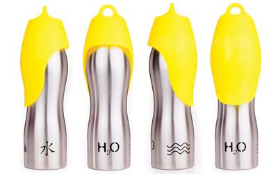 H2O4K9 Hundetrinkflasche, gelb