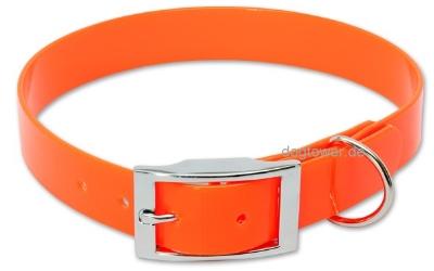 Halsband Biothane Deluxe Gold-Orange
