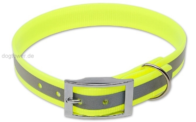 Halsband Biothane Deluxe Reflektor-Gelb