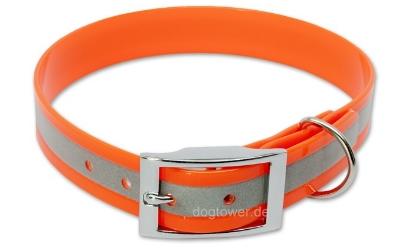 Halsband Biothane Deluxe Reflektor-Orange