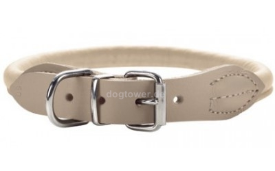 Hunter Leder Rundhalsband Round & Soft Elk nickel, beige