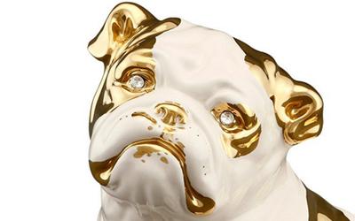 Wunderschönes, handbemates Unikat, mit chtem Gold bemalt