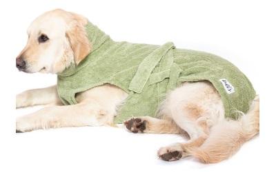 Hundebademantel von Lill´s, green leaf